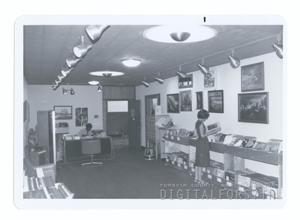 The Audio-Visual Department's new framed print and phonograph record section.
