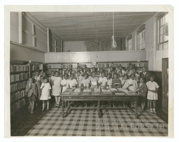 Children in the George Moses Horton Branch Library.