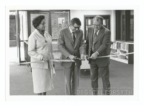 Rural Hall Branch Library dedication, 1982.