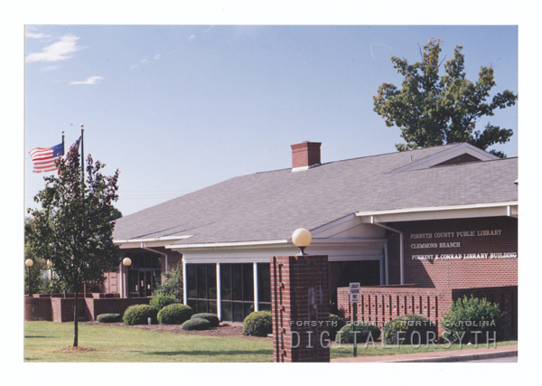 Clemmons Branch Library exterior.