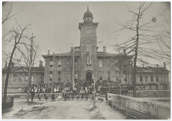 Winston Graded School, later called West End School, on West Fourth Street.