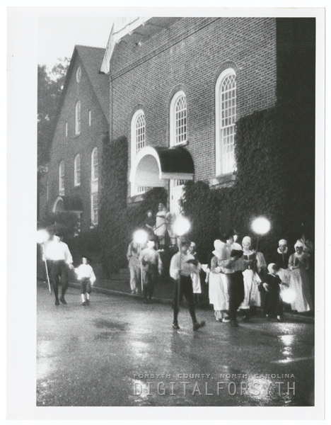 Fourth of July celebration in Old Salem, 1972.