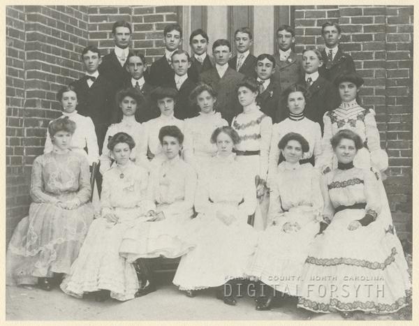 1902 graduating class of Winston High School.