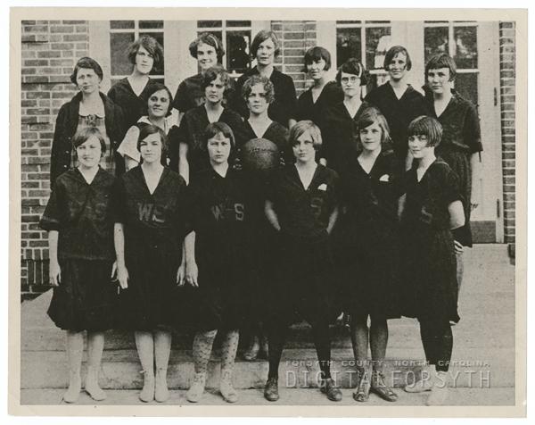 R. J. Reynolds High School girls' basketball team, 1926.