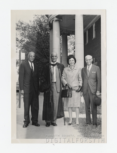 Atkins Siblings in Front of Fries Auditorium