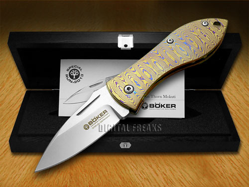 titanium kitchen knives island large boker tree brand mokuti damascus thorn liner lock ...