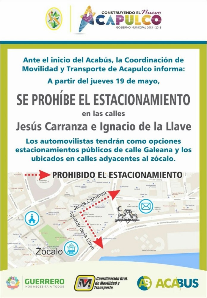 prohiben estacionarse