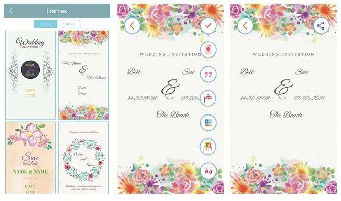 create your own wedding invitations with wedding invitations cards Cruise Infotech maker mobile app