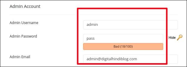 Admin Accounts