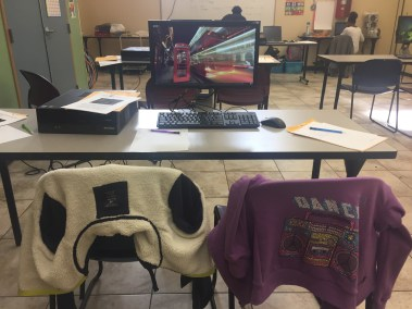 SX techie - chairs at break