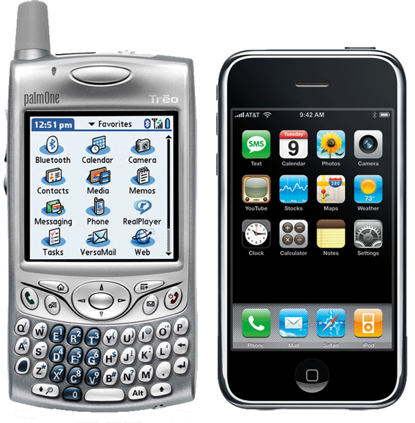 treo and iphone