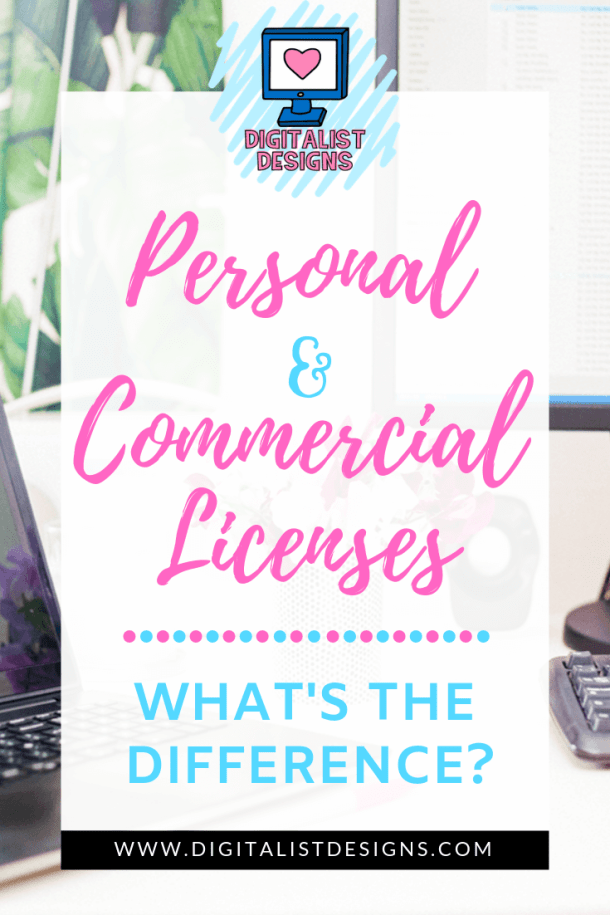 Every crafter should know the difference between different types of licenses. Here's a guide for the main two: Personal Licenses and Commercial Licenses! Learning the differences between the two could save you from some hefty fines, or a visit to court.