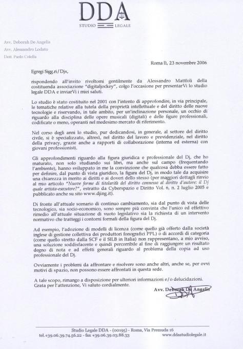 lettera djs
