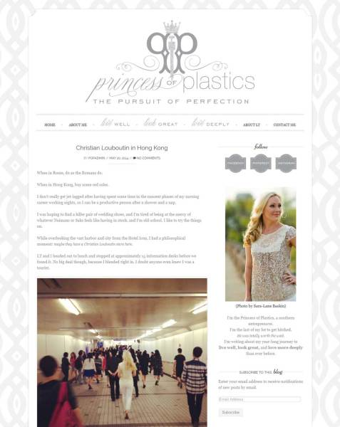 lifestyle bloggers Lifestyle Blog for Princess of Plastics