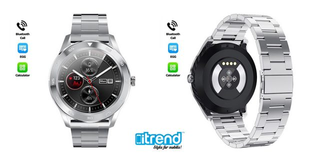 itrend gr smartwatch metaliko bracelet dynatotita kliseon metrisi piesis vimata