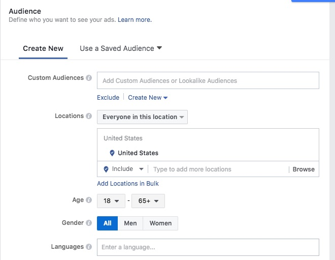 Facebook geofencing and geo targeting for busiensses setup 1