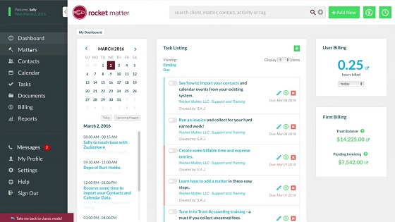 44 Rocket Matter legal and law firm practice and case management software review