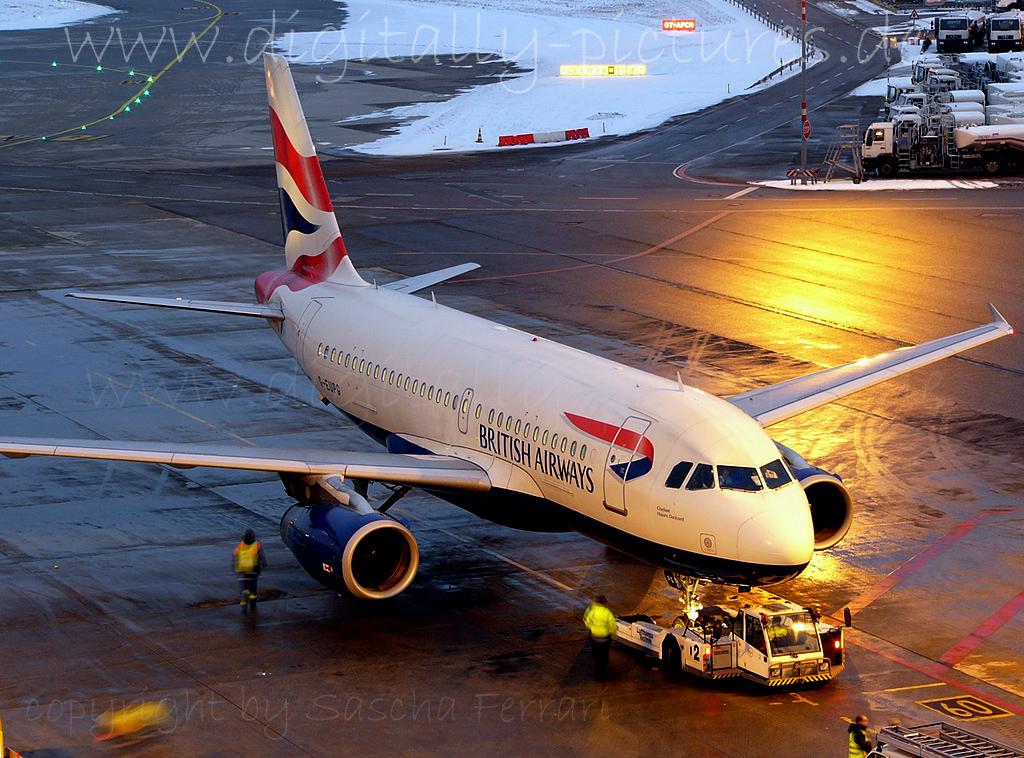 British Airways Airbus A319 Flughafen Stuttgart Fotos
