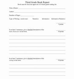 3rd Grade Book Report Worksheet   Printable Worksheets and Activities for  Teachers [ 1569 x 1184 Pixel ]