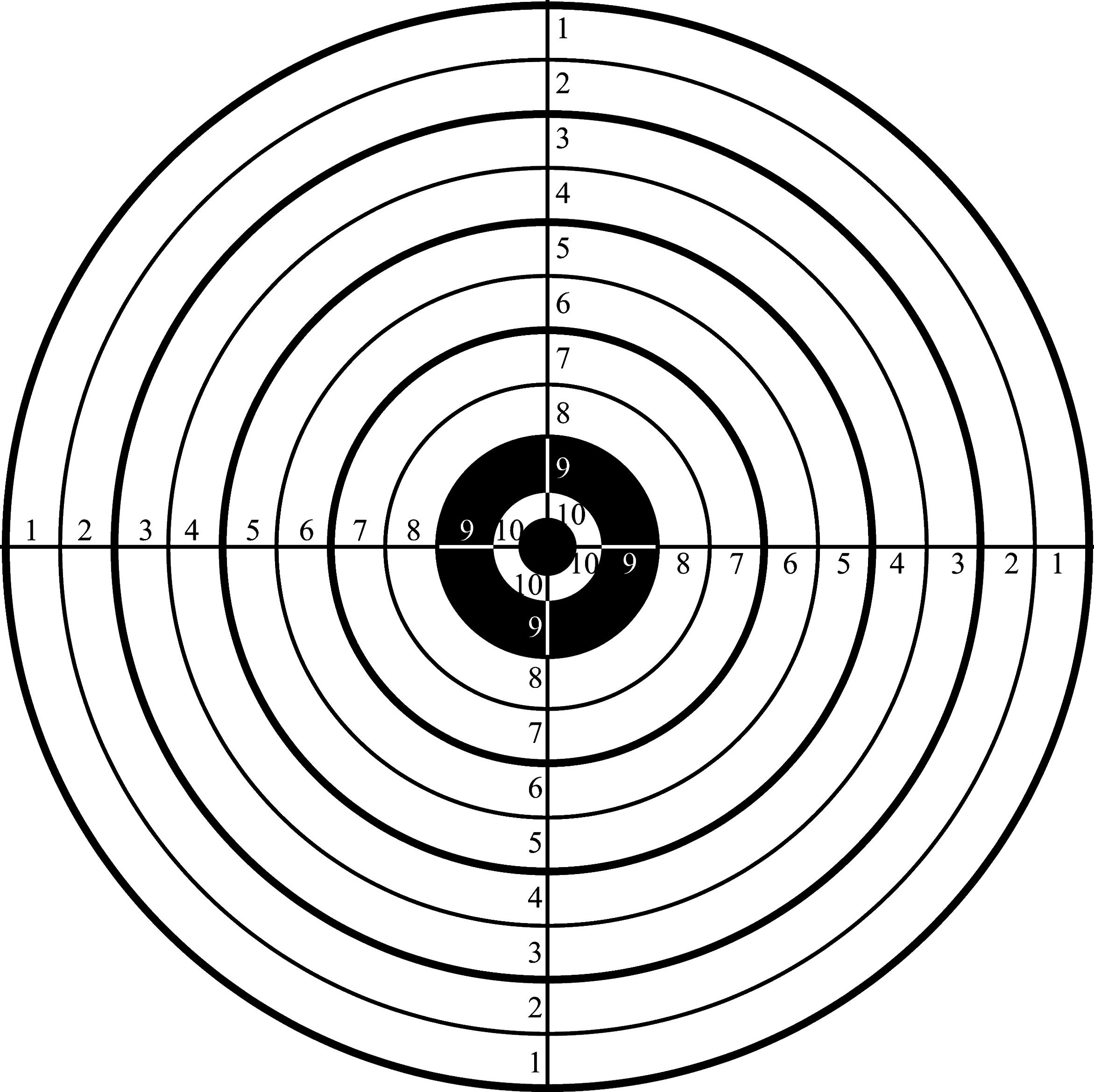 Printable Shooting Targets for Pistol, Rifle, Airgun, Archery