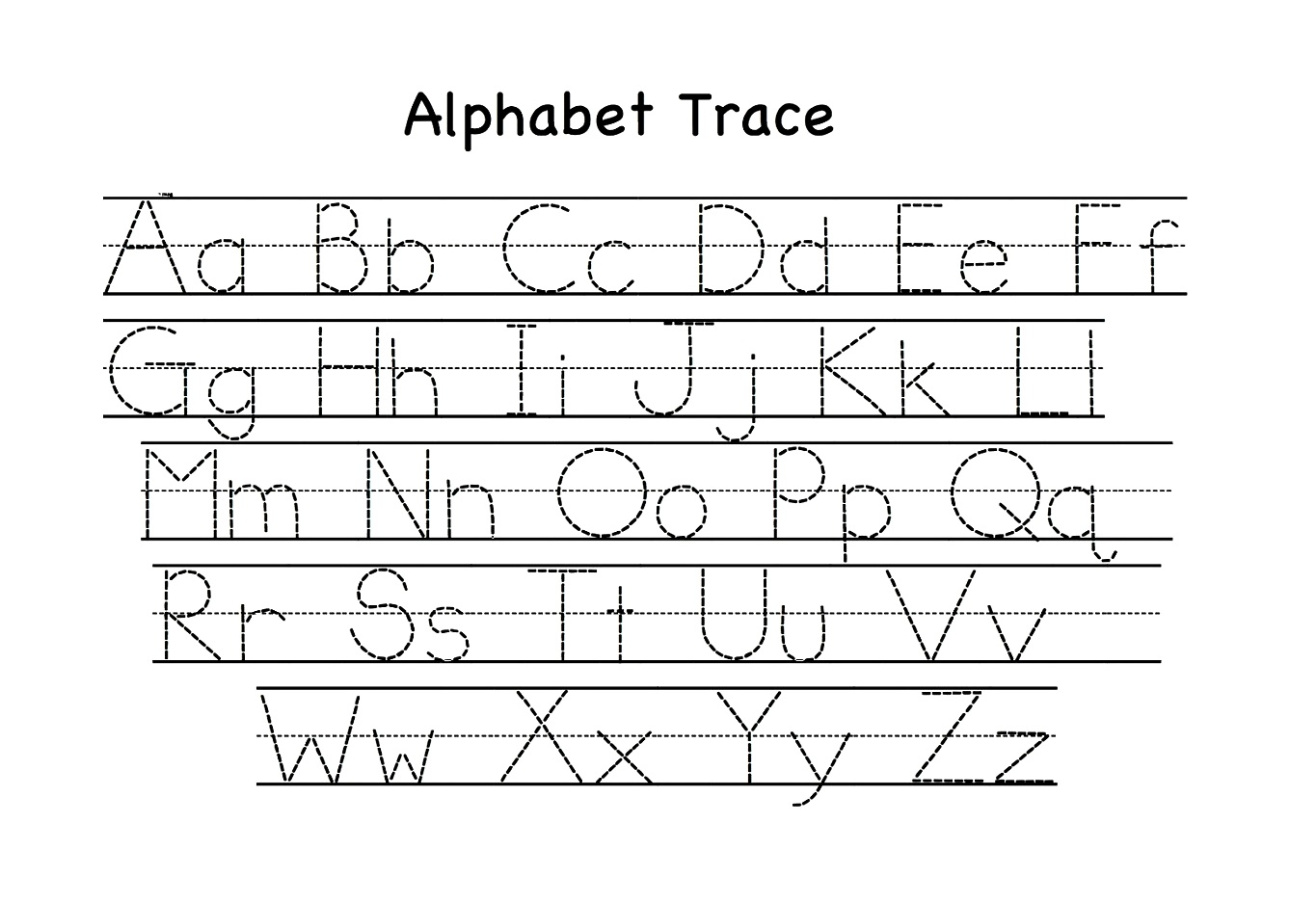Printable Letter Tracing Worksheets For Kindergarten Preschool