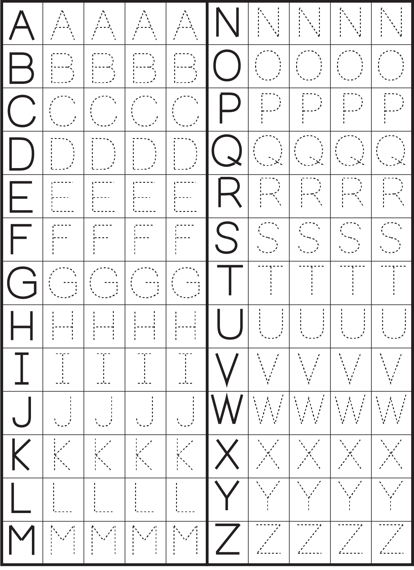 Printable Letter Tracing Worksheets For Kindergarten Preschool