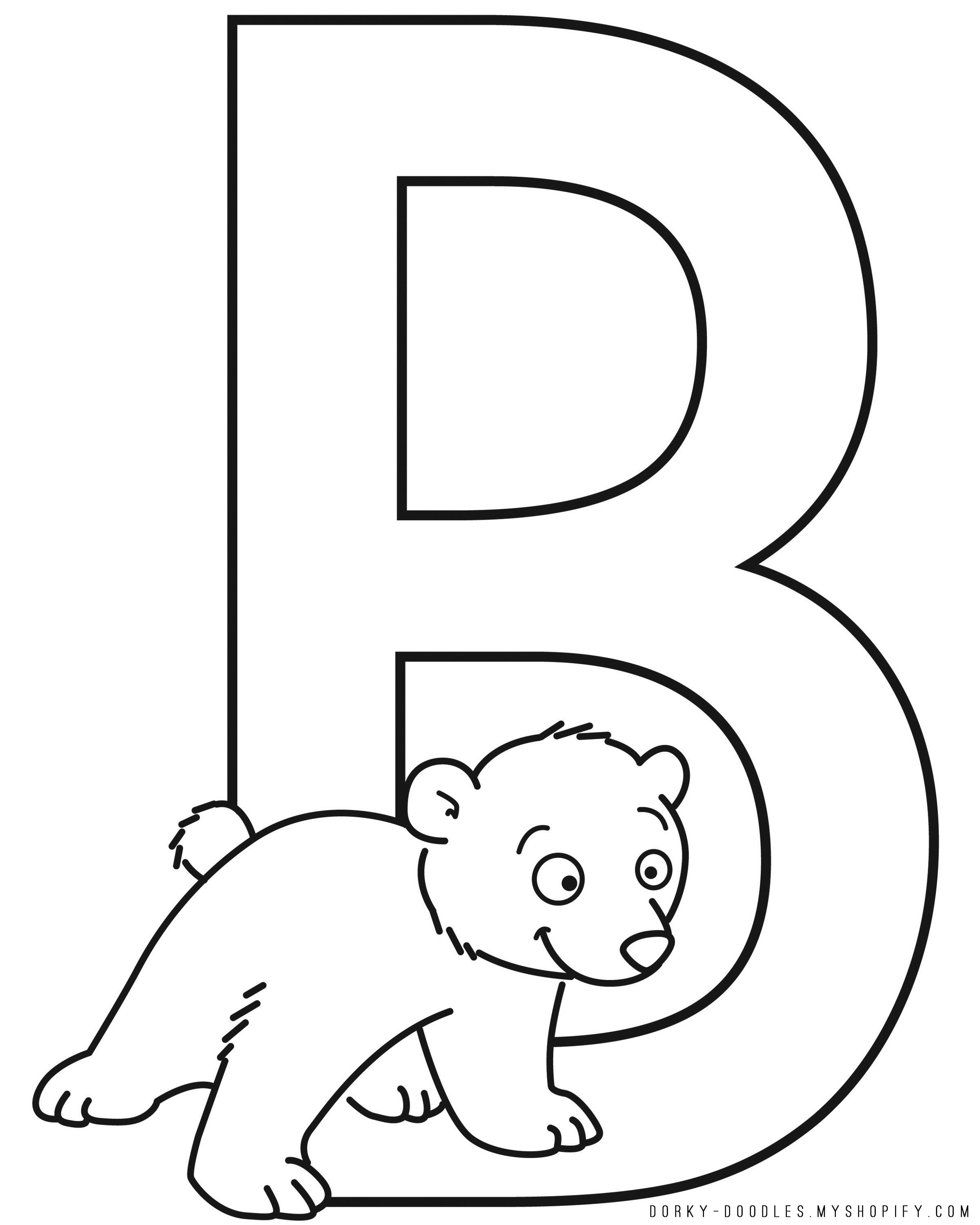 Printable Letter B Worksheets For Kindergarten Preschoolers