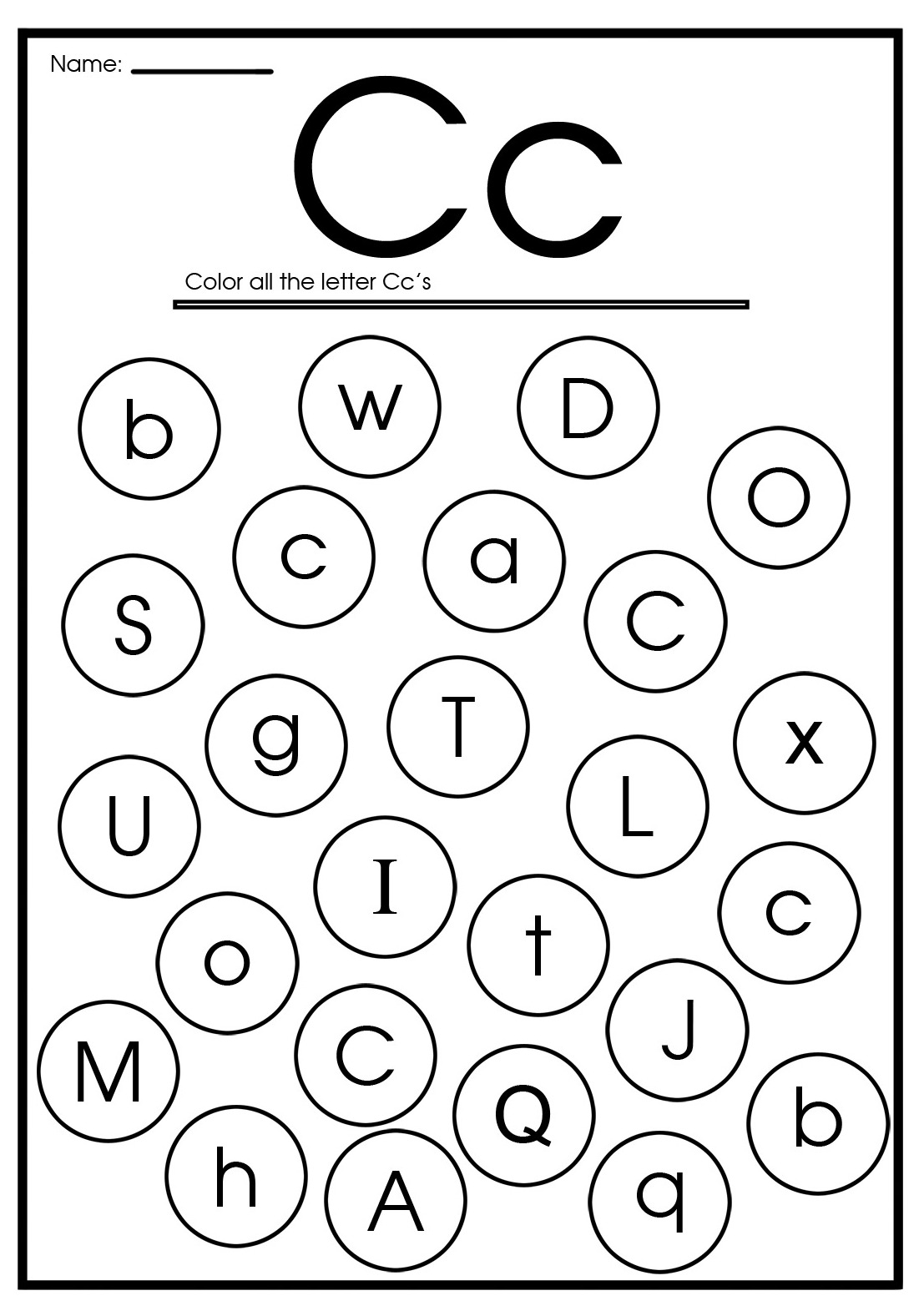 Printable Letter C Worksheets For Kindergarten Preschoolers