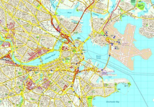 Charleston map Eps Illustrator Vector City Maps USA