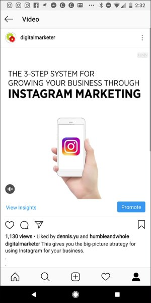 An example of a tip video post on DigitalMarketer's Instagram