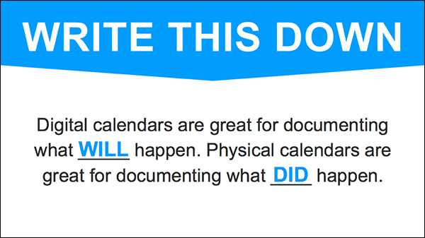 How to document your day