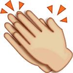 clapping emoji