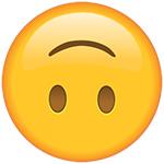 upside down smiley emoji