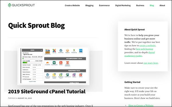 Quick Sprout Marketing Blog