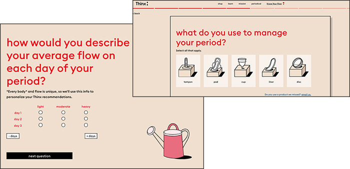 Thinx quiz funnel