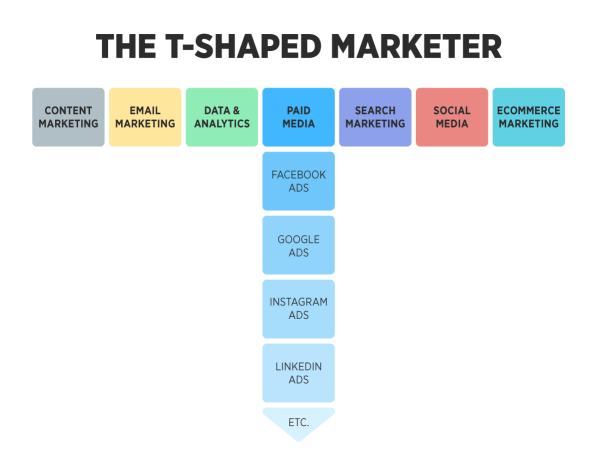 t-shaped marketer with disciplines