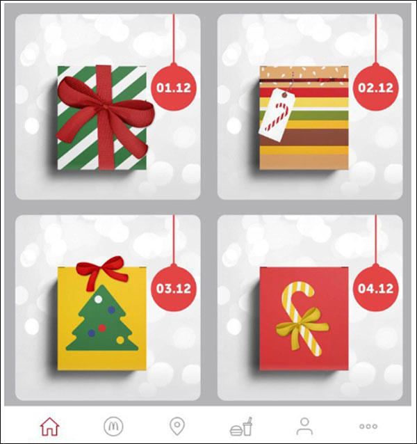 McDonald's interactive advent calendar