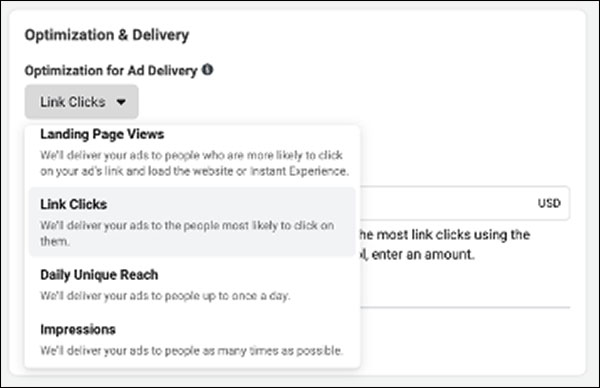Facebook optimization and delivery