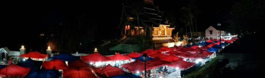 The night market in Luang Prabang, Loas -- the inspiration for this post on Search, content marketing and social media