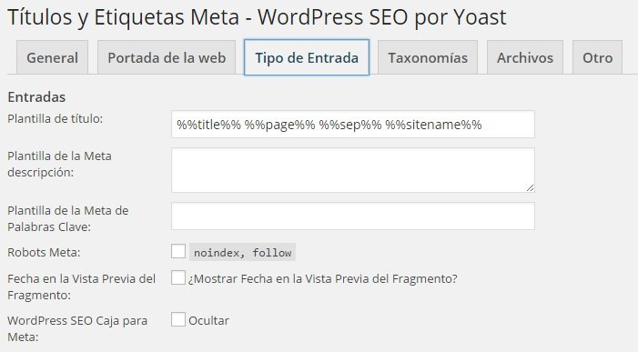 Wordpress SEO Yoast