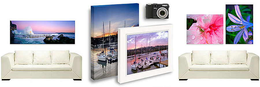 prints on canvas with