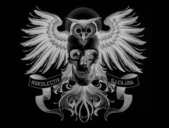 NSK tattoo owl NewSkool Tattoo. 110 [link] [add a comment]