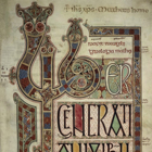 cropped section of the opening of Matthew, BL Cotton Nero f27r The Book of Lindisfarne