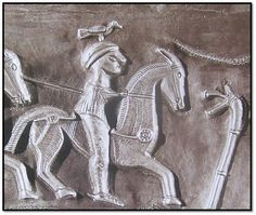 detail from the Gundestrup cauldron showing a carnyx