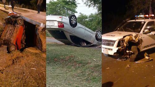 <span>Vuelco de vehículo y choque en Santa María Misiones</span>