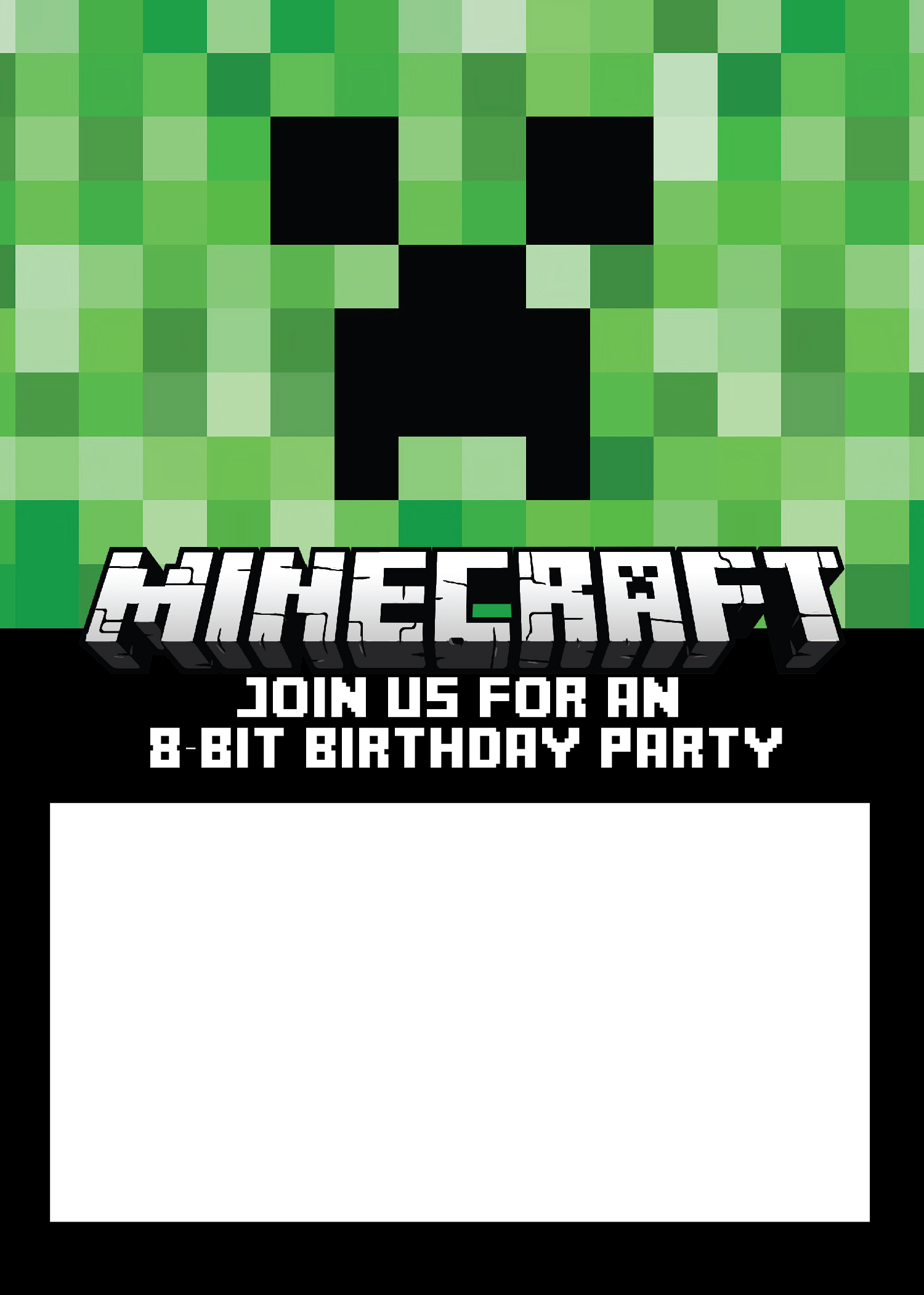 Free minecraft birthday invitations personalize for print and evite how to personalize the minecraft birthday invitation with picmonkey filmwisefo