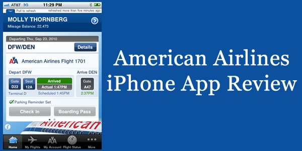 American Airlines iPhone App Review