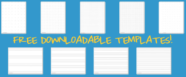 FREE downloadable print paper templates