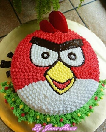 Angry Birds Cake - Red Bird
