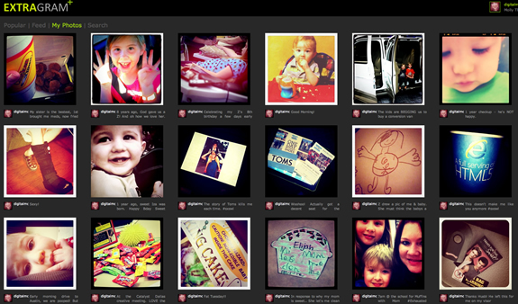 Extragram – Your Instagram Photos On The Web